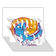 Pisces Star Sign Thank You 3d Greeting Card (7x5)  by theimagezone