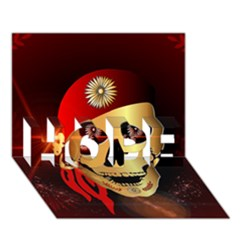 Funny, Happy Skull Hope 3d Greeting Card (7x5)  by FantasyWorld7