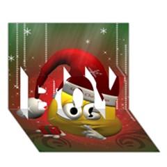 Funny Christmas Smiley Boy 3d Greeting Card (7x5) by FantasyWorld7