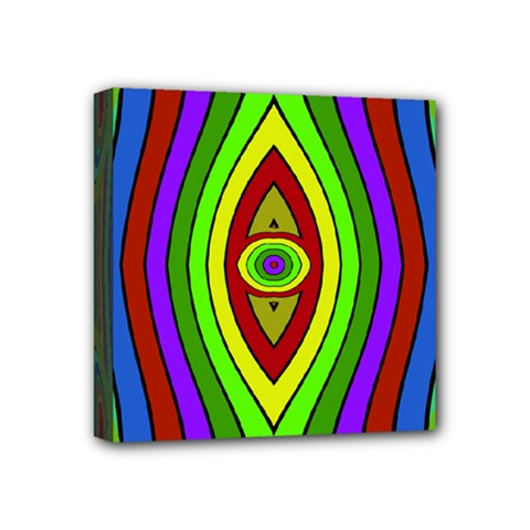 Colorful Symmetric Shapes Mini Canvas 4  X 4  (stretched) by LalyLauraFLM
