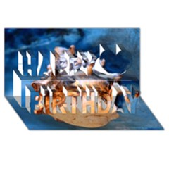 Sea Shell Spiral Happy Birthday 3d Greeting Card (8x4)  by timelessartoncanvas