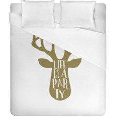 Life Is A Party Buck Deer Duvet Cover Single Side (double Size) by CraftyLittleNodes