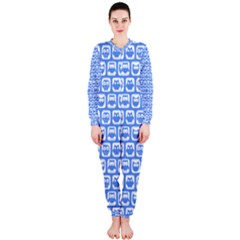 Blue And White Owl Pattern Onepiece Jumpsuit (ladies)  by creativemom