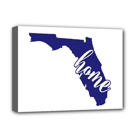 Florida Home  Deluxe Canvas 16  X 12   by CraftyLittleNodes