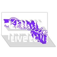 Florida Home State Pride Laugh Live Love 3d Greeting Card (8x4)