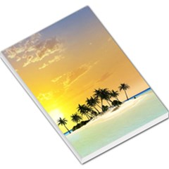 Beautiful Island In The Sunset Large Memo Pads by FantasyWorld7