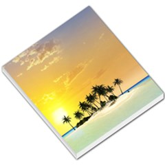Beautiful Island In The Sunset Small Memo Pads by FantasyWorld7