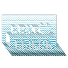 Perfectchevron Best Friends 3d Greeting Card (8x4)  by CraftyLittleNodes
