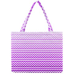 Purple Gradient Chevron Tiny Tote Bags by CraftyLittleNodes