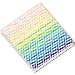 Pastel Gradient Rainbow Chevron Small Memo Pads by CraftyLittleNodes