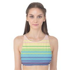 Pastel Gradient Rainbow Chevron Tank Bikini Top by CraftyLittleNodes