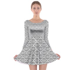 Gray Damask Long Sleeve Skater Dress by CraftyLittleNodes