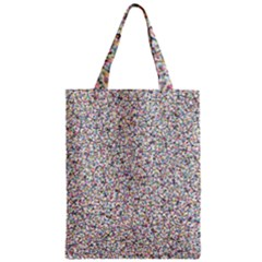 Crowd Icon Random Cmyk Zipper Classic Tote Bags by thisisnotme