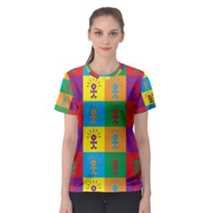 Multi Coloured Lots Of Angry Babies Icon Women s Sport Mesh Tees