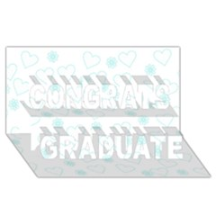 Flowers And Hearts Congrats Graduate 3d Greeting Card (8x4)  by MoreColorsinLife
