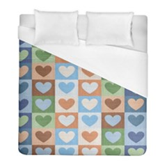 Hearts Plaid Duvet Cover Single Side (twin Size) by MoreColorsinLife