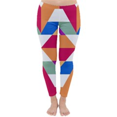 Shapes In Triangles Winter Leggings