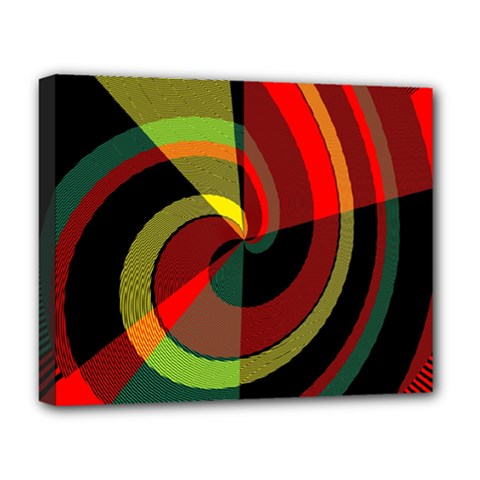 Spiral Deluxe Canvas 20  X 16  (stretched) by LalyLauraFLM