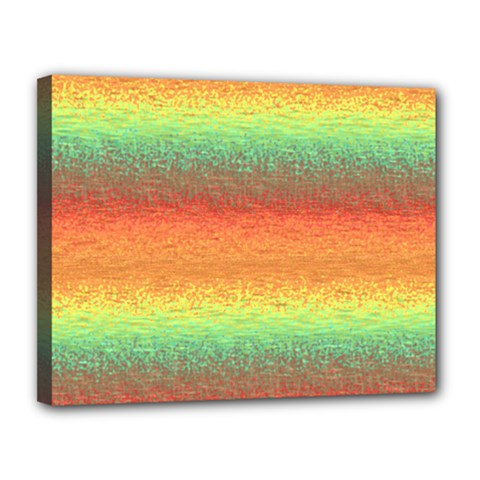 Gradient Chaos Canvas 14  X 11  (stretched) by LalyLauraFLM