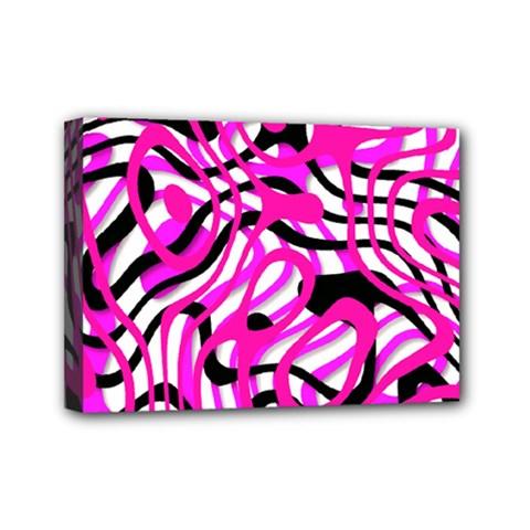 Ribbon Chaos Pink Mini Canvas 7  x 5