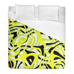 Ribbon Chaos Yellow Duvet Cover Single Side (twin Size) by ImpressiveMoments
