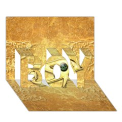 The All Seeing Eye With Eye Made Of Diamond Boy 3d Greeting Card (7x5) by FantasyWorld7