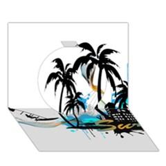 Surfing Circle 3d Greeting Card (7x5)  by EnjoymentArt