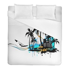 Surfing Duvet Cover Single Side (twin Size) by EnjoymentArt