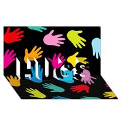 All Over Hands Hugs 3d Greeting Card (8x4)