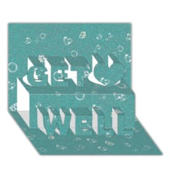 Sweetie Soft Teal Get Well 3d Greeting Card (7x5)