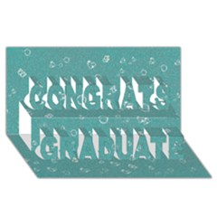 Sweetie Soft Teal Congrats Graduate 3d Greeting Card (8x4)  by MoreColorsinLife