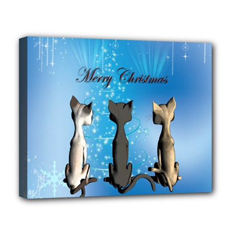 Merry Chrsitmas Deluxe Canvas 20  X 16   by FantasyWorld7
