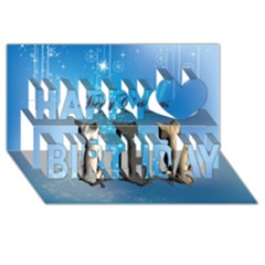 Merry Chrsitmas Happy Birthday 3d Greeting Card (8x4)  by FantasyWorld7