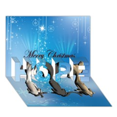 Merry Chrsitmas Hope 3d Greeting Card (7x5)  by FantasyWorld7