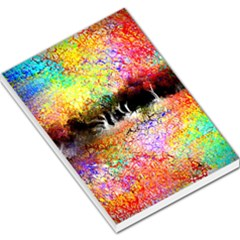 Colorful Tree Landscape Large Memo Pads by theunrulyartist