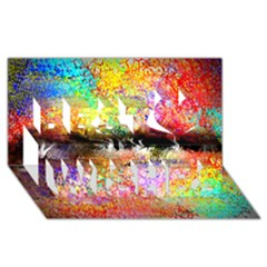 Colorful Tree Landscape Best Wish 3d Greeting Card (8x4)  by theunrulyartist