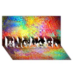 Colorful Tree Landscape Engaged 3d Greeting Card (8x4)
