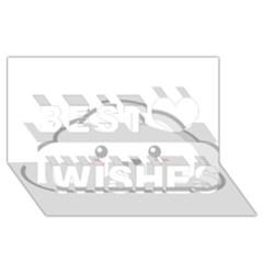 Kawaii Cloud Best Wish 3d Greeting Card (8x4)  by KawaiiKawaii