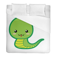 Kawaii Snake Duvet Cover Single Side (twin Size) by KawaiiKawaii