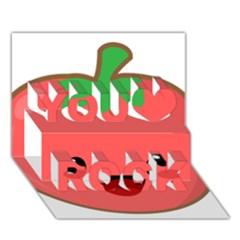 Kawaii Tomato You Rock 3d Greeting Card (7x5)  by KawaiiKawaii