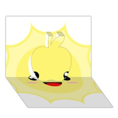Kawaii Sun Apple 3d Greeting Card (7x5)  by KawaiiKawaii