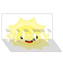 Kawaii Sun Party 3d Greeting Card (8x4)  by KawaiiKawaii