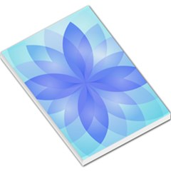 Abstract Lotus Flower 1 Large Memo Pads by MedusArt