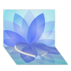 Abstract Lotus Flower 1 Heart Bottom 3d Greeting Card (7x5)  by MedusArt
