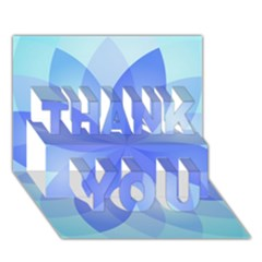 Abstract Lotus Flower 1 Thank You 3d Greeting Card (7x5)  by MedusArt