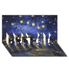 Vincent Van Gogh Starry Night Over The Rhone Best Sis 3d Greeting Card (8x4)  by MasterpiecesOfArt