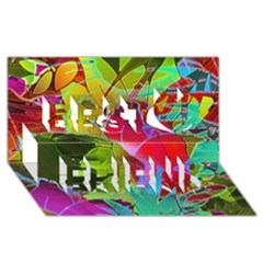 Floral Abstract 1 Best Friends 3d Greeting Card (8x4)  by MedusArt