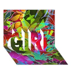Floral Abstract 1 Girl 3d Greeting Card (7x5)  by MedusArt
