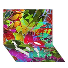 Floral Abstract 1 Love Bottom 3d Greeting Card (7x5)  by MedusArt