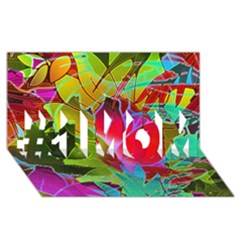 Floral Abstract 1 #1 Mom 3d Greeting Cards (8x4)  by MedusArt